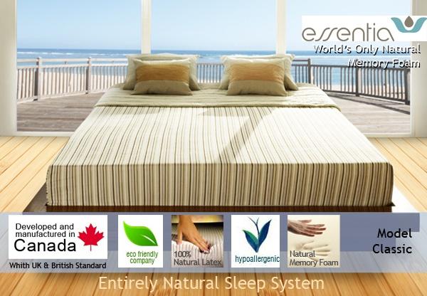 essentia classic natural organic memory foam mattress. Black Bedroom Furniture Sets. Home Design Ideas