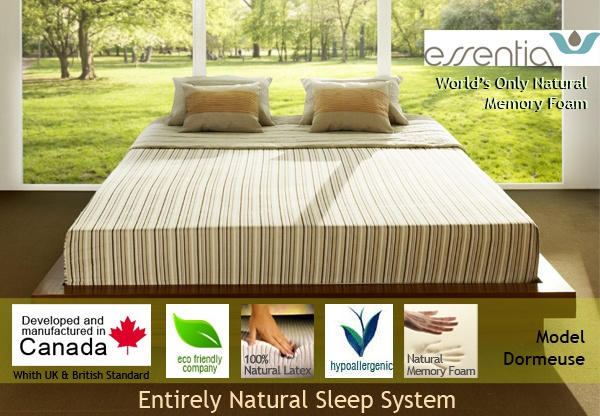 Essentia Dormeuse Natural Organic Memory Foam Mattress