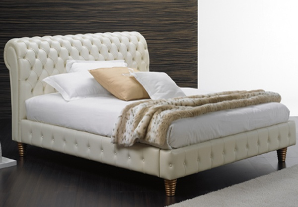 absolute beds collection capri leather bed frame best price. Black Bedroom Furniture Sets. Home Design Ideas