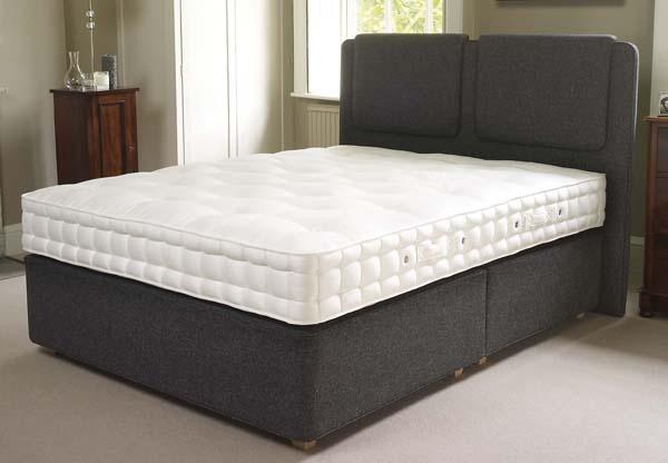 Hypnos heritage baroness pocket sprung divan bed set for Pocket sprung divan set