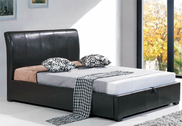 Superb Joseph Otto Brown Faux Leather Ottoman Storage Bed Line