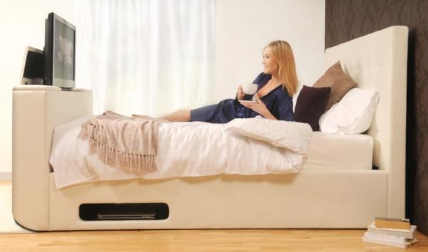 sleep secrets montana electric wireless tv bed best price. Black Bedroom Furniture Sets. Home Design Ideas