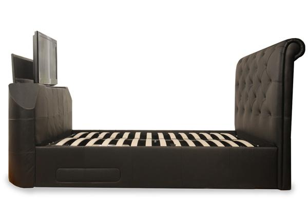 Sleep Secret Stratford Black Electric Wireless Tv Bed Best Price