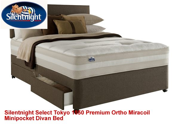 Silentnight select kingsize tokyo 1550 premium ortho for Best value divan beds
