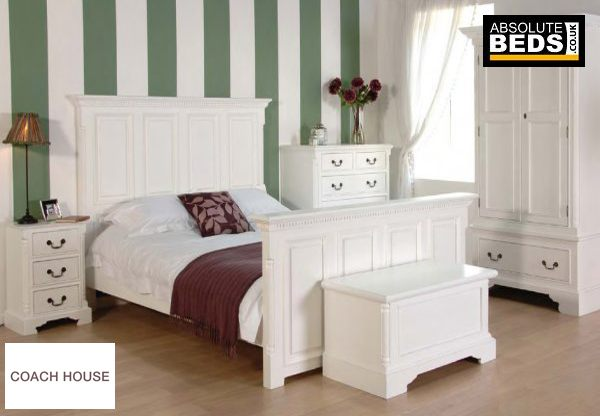 Classic House Georgian White Wooden Bed Frame