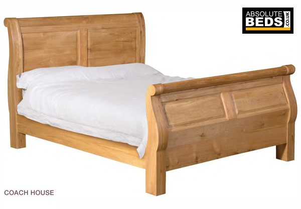 Classic House Quebec Oak Sleigh Bed Frame Best Price