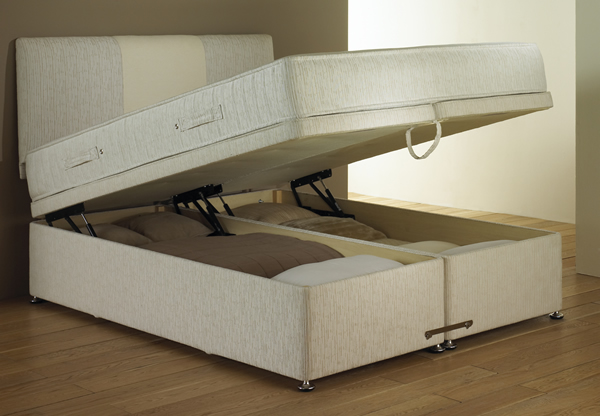 Dorlux contourflex lift up ottoman storage bed base best - Lift up storage bed ...