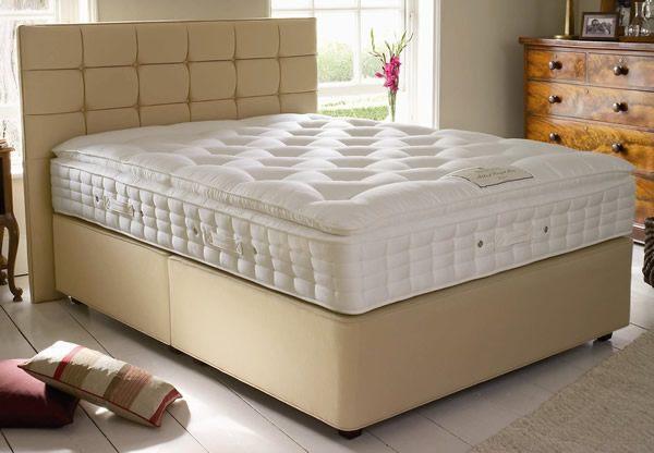 Hypnos pillow top elite pocket spring divan bed set best for Hypnos divan beds