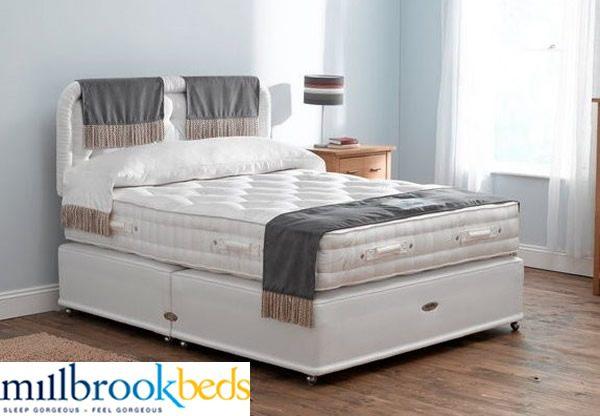 Millbrook countess 2000 pocket spring divan bed set best for Pocket sprung divan set