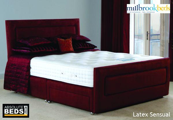 Millbrook latex sensual pocket and latex divan bed set for Best value divan beds
