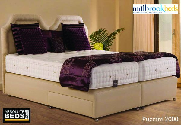 Millbrook Silhouette Puccini 2000 Pocket Spring Divan Bed Se Best Price