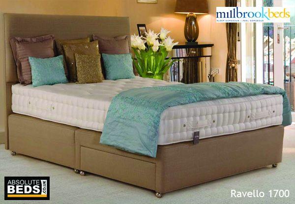 Millbrook silhouette ravello 1700 pocket spring divan bed for Best value divan beds