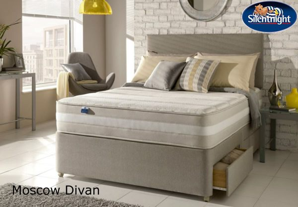 Silentnight select kingsize moscow memory 1200 mirapocket for Best value divan beds