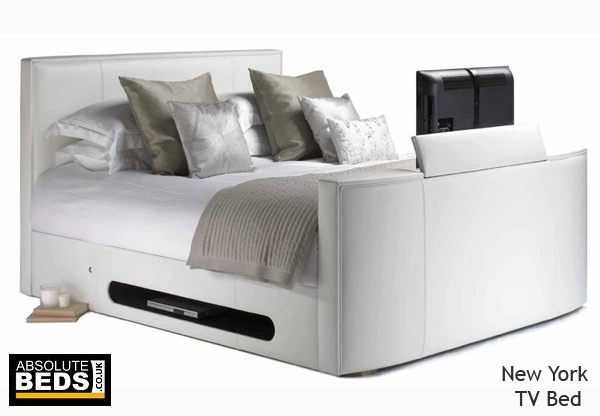 Leather New York TV Bed including LG Television | Best Price