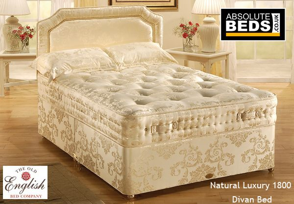 Old english natural luxury 1800 pocket divan bed set for Divan in english