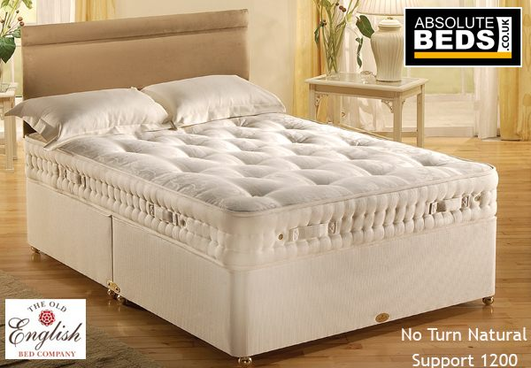 Old english no turn natural support 1200 pocket divan bed for Divan in english