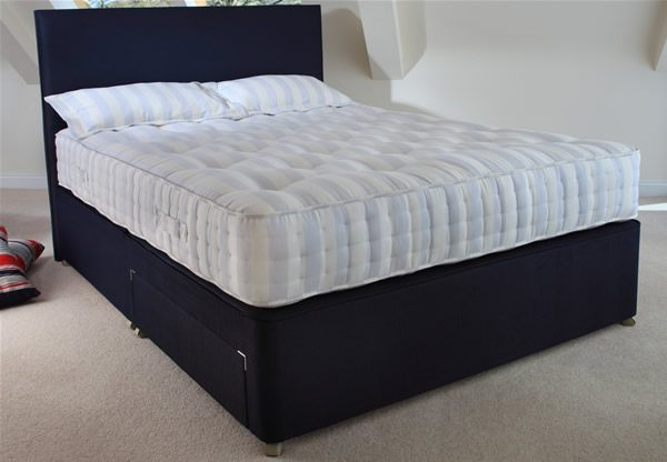 Relyon single size lyon orthorest 1000 pocket spring divan for Best single divan beds