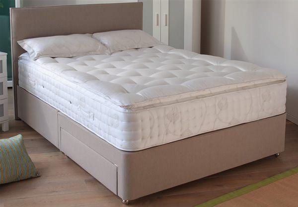 Relyon marseille 2200 pocket spring divan bed set best price for Divan bed including headboard