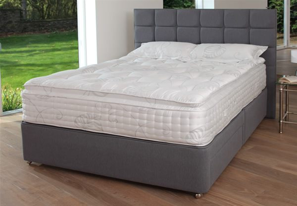 Relyon montpellier 2400 pocket spring latex divan bed for Divan and mattress set