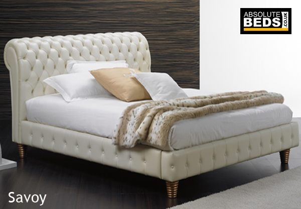 time living swan black 5ft kingsize real leather bed frame by