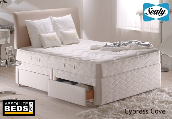 Sealy posturepedic silver collection cypress cove divan for Best value divan beds