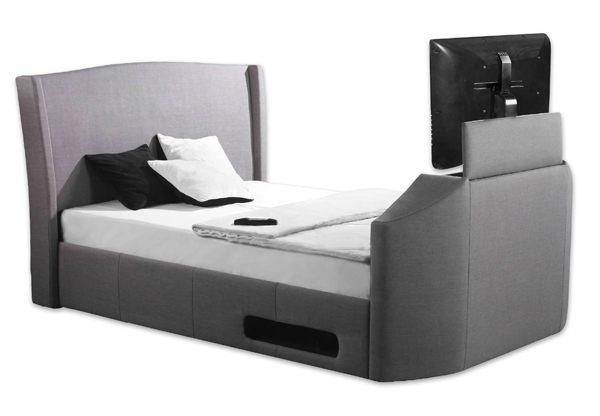 tv bed. sleep secrets kensington electric wireless tv bed tv