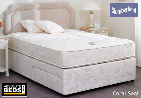 Slumberland Postureflex Coral Seal Divan Bed Set