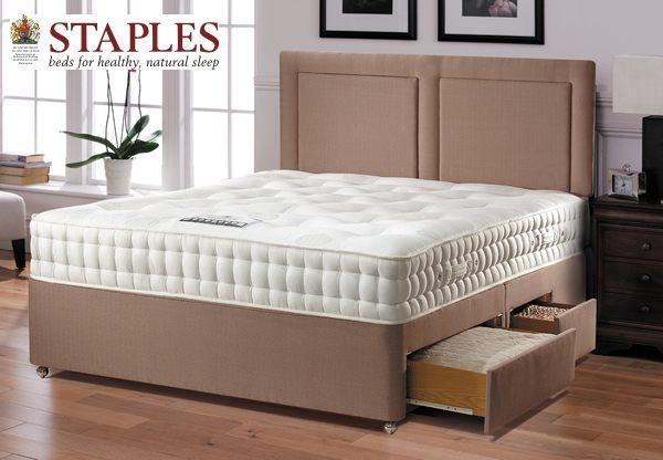 Staples cordelia 1200 pocket spring divan bed set best price for Pocket sprung divan set