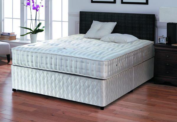 Staples denver backcare 1000 pocket springs divan bed set for Best value divan beds