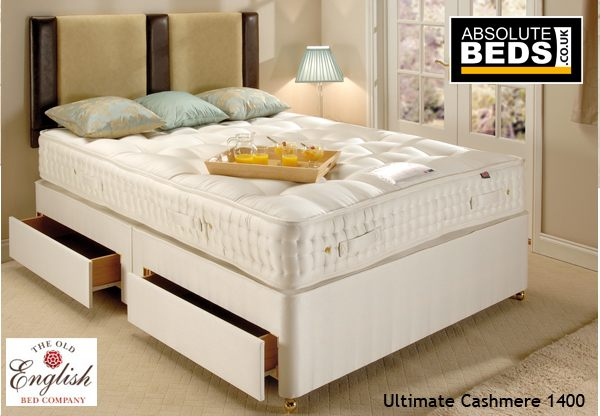 Old english ultimate cashmere 1400 divan bed set best price for Divan in english