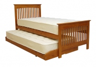 Relyon Duo Storabed Oak Finish Guest Bed