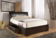 Kaydian Kenton Faux Leather Bed Frame with Drawers