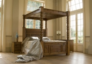 Revival Collection Ambassador Four Poster Solid Pine Bed