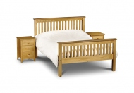 Julian Bowen Barcelona Pine High Foot End Wooden Bed