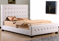 Joseph Crystal Faux Leather Bed Frame