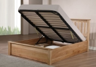 Emporia Beds Monaco Solid Oak Ottoman Storage Bed Frame