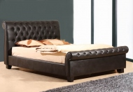 Joseph Sooma Faux  Leather Bed Frame