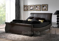 Kaydian Bamburgh Leather Sleigh Bed