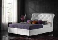 Kaydian Opera White Leather Bed Frame