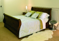The Revival Collection Parisienne Pine sleigh Bed
