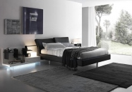 Presotto Reflex Upholstered Bed with Contrasting Stitching