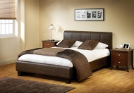 Julian Bowen Vienna Faux Leather Bed