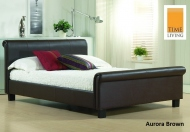 Time Living Aurora Real Leather Bed Frame