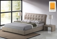 Time Living Boston Faux Leather Bed Frame
