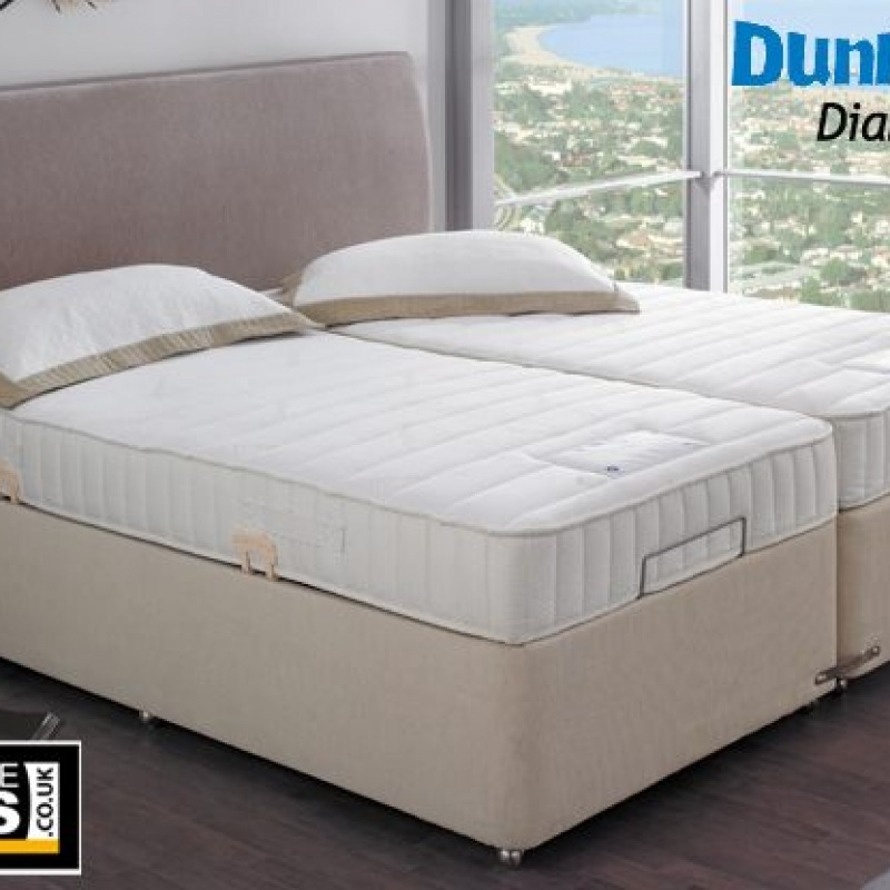 Colchones De Latex Natural Dunlopillo.Dunlopillo Diamond Adjustable Latex Divan Bed Set Only Headboard Not